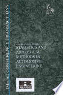 International Conference on Statistics and Analytical Methods in Automotive Engineering