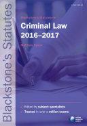Blackstone's Statutes on Criminal Law 2016-2017 - Seite 58