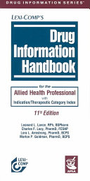 Drug Information Handbook for the Allied Health Professional Book