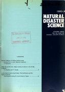 Natural Disaster Science