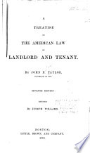 A Treatise On The American Law Of Landlord And Tenant Book PDF