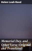 Pdf Memorial Day, and Other Verse (Original and Translated)
