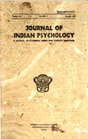 Journal of Indian Psychology