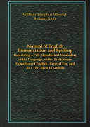 Manual of English Pronunciation and Spelling [Pdf/ePub] eBook