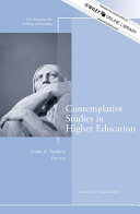 Contemplative Studies in Higher Education