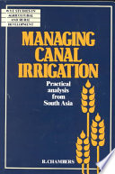 Managing Canal Irrigation  : Practical Analysis from South Asia