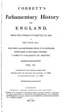 The Parliamentary History of England, from the Earliest Period to the Year 1803 ebook