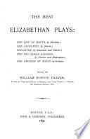 The Best Elizabethan Plays     Book PDF
