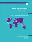 China at the Threshold of a Market Economy