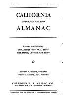 California Information and Almanac