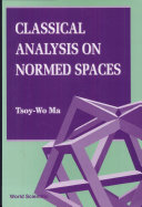 Classical Analysis on Normed Spaces ebook