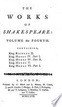 King Richard Ii King Henry Iv Part 1 King Henry Iv Part 2 Henry V King Henry Vi Part 1
