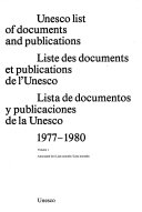 Pdf Unesco List of Documents and Publications