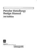 Powder Metallurgy Design Manual
