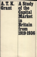 A Study of the capital market in Britain from 1919-1936