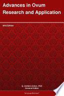 Advances In Ovum Research And Application 2012 Edition Book PDF