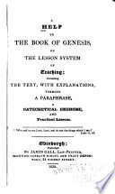 A Help To The Book Of Genesis