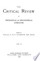 The Critical Review of Theological & Philosophical Literature