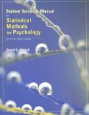 Student Solutions Manual for Statistical Methods for Psychology