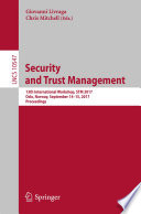 Security and Trust Management