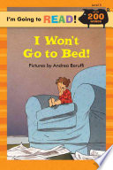 I Won t Go to Bed  Book PDF