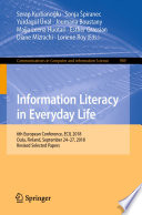 Information Literacy in Everyday Life Book