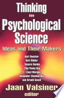 Thinking in Psychological Science Book PDF