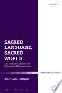 Sacred Language  Sacred World