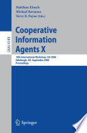 Cooperative Information Agents X Book