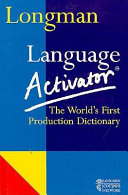 Longman Language Activator Book