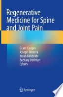 Regenerative Medicine For Spine And Joint Pain Book PDF