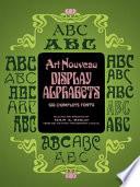 Art Nouveau Display Alphabets
