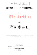 Hymns and Anthems for the Services of the Church