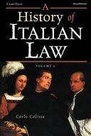 A History of Italian Law
