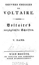 Oeuvres Choisies de Voltaire
