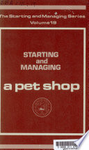 Starting and Managing a Pet Shop