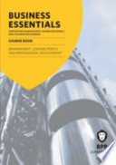 Business Essentials Management: Leading People and Professional Development