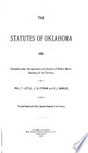 The Statutes of Oklahoma  1890