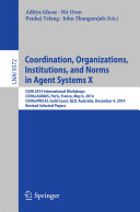 Pdf Coordination, Organizations, Institutions, and Norms in Agent Systems X