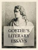Pdf Goethe's Literary Essays Telecharger