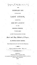 The Exemplary Life of the Pious Lady Guion
