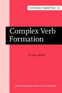 Complex Verb Formation
