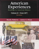 American Experiences: Since 1865 ebook