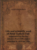 Life and scientific work of Peter Guthrie Tait Pdf/ePub eBook