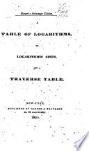 A Table of Logarithms