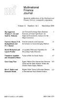 Multinational Finance Journal