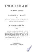 Epidemic Cholera
