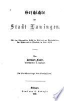 Geschichte der stadt Lauingen, etc
