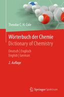 W  rterbuch der Chemie   Dictionary of Chemistry