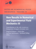 New Results In Numerical And Experimental Fluid Mechanics Iii Book PDF